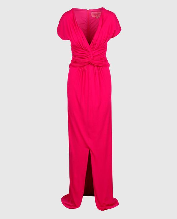 Малиновое платье из шелка
