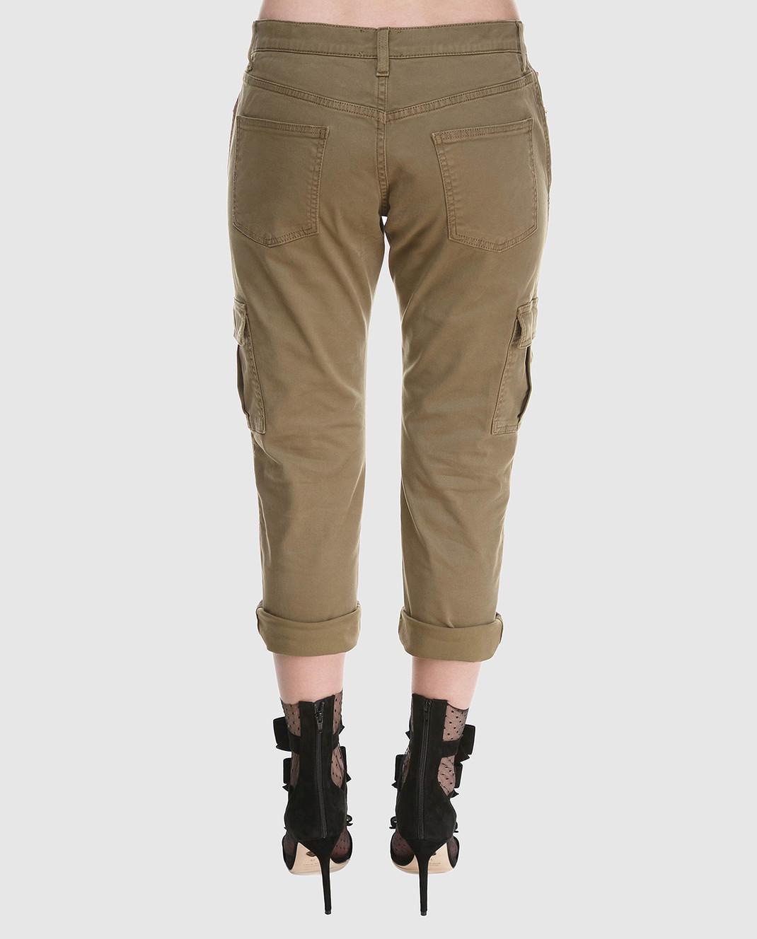 Redemption Зеленые брюки 1810RP08TC29 изображение 4