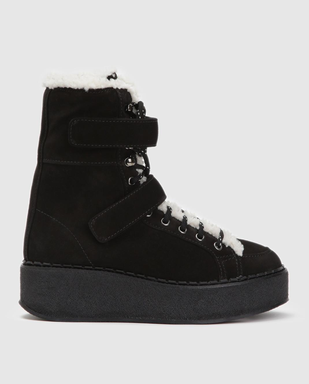 Moncler Черные замшевые ботинки 20482