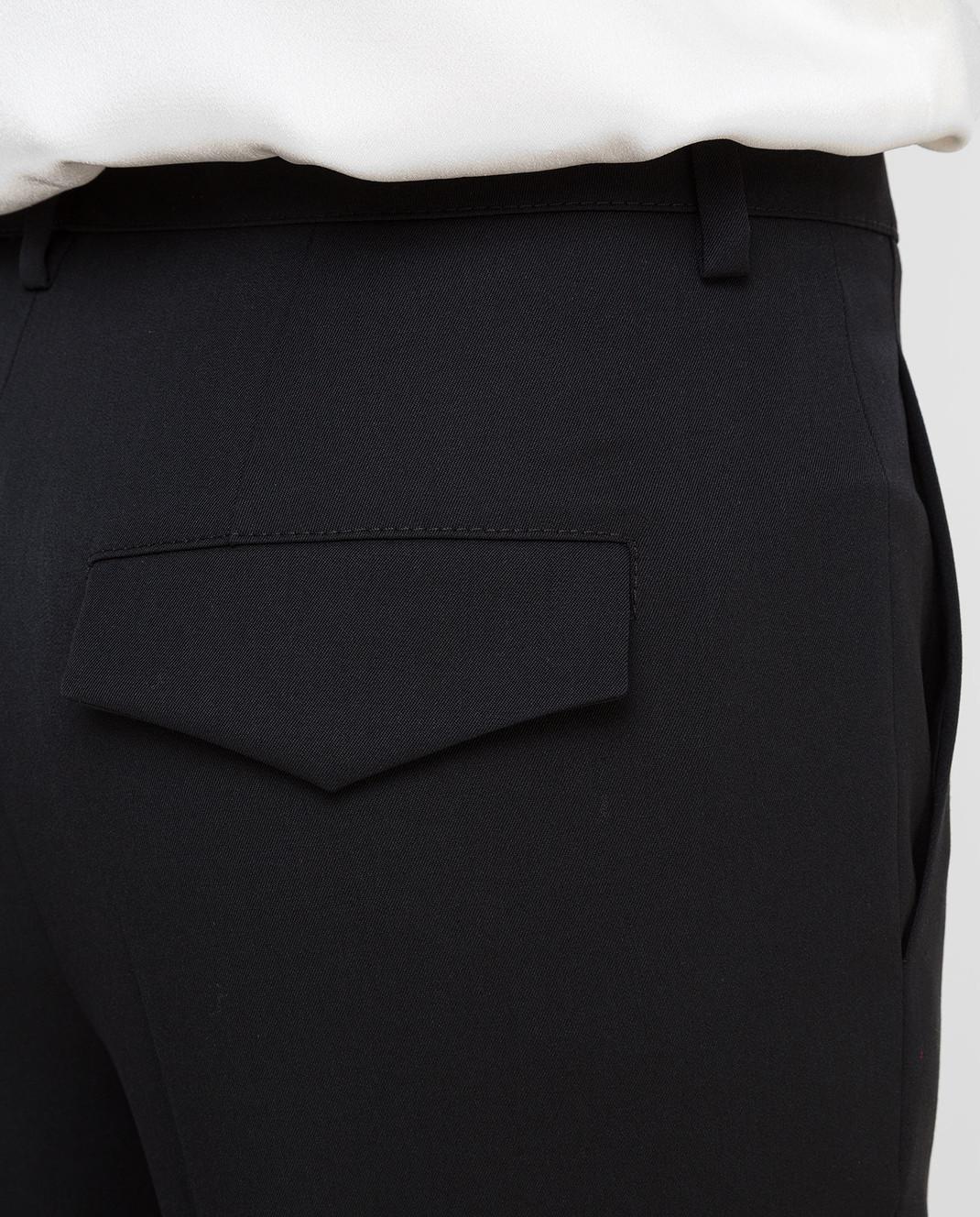 Lanvin Черные брюки из шерсти изображение 5