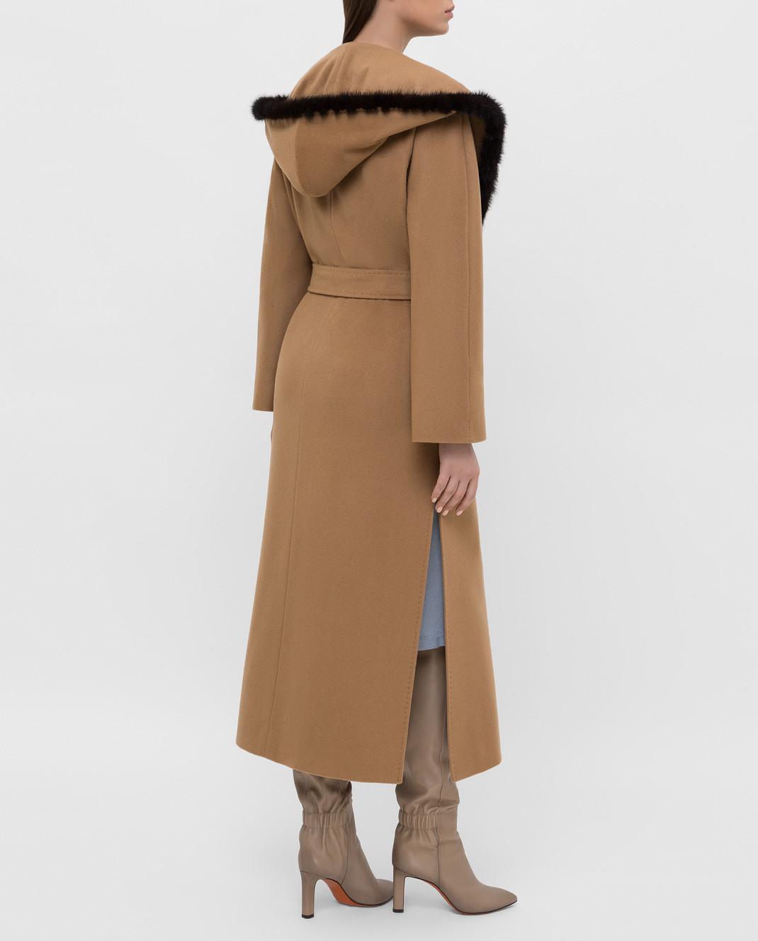 Heresis Бежевое пальто M33130VIA50 изображение 4