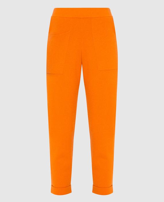 Оранжевые брюки из кашемира