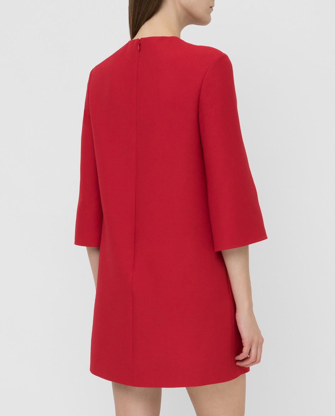 Valentino Красное платье из шерсти и шелка SB0VAPN0360 изображение 4