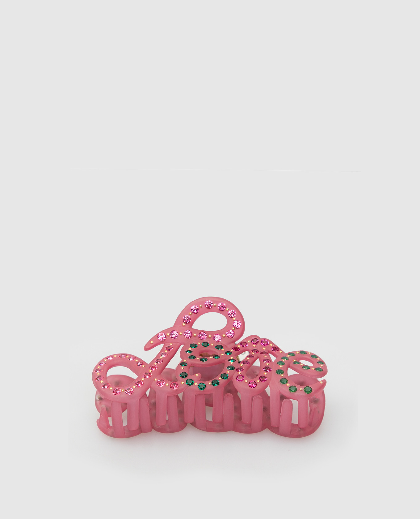Розовый крабик с кристаллами