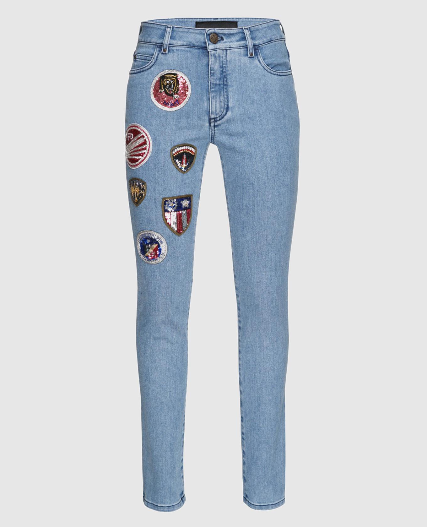 Голубые джинсы