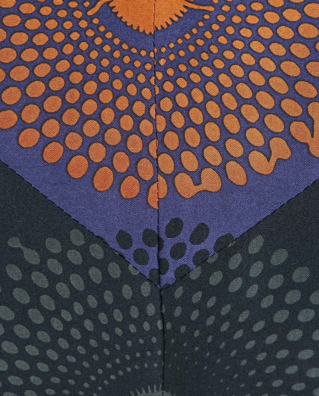 NINA RICCI Синяя юбка из шелка 17PCJU008SE1249 изображение 5