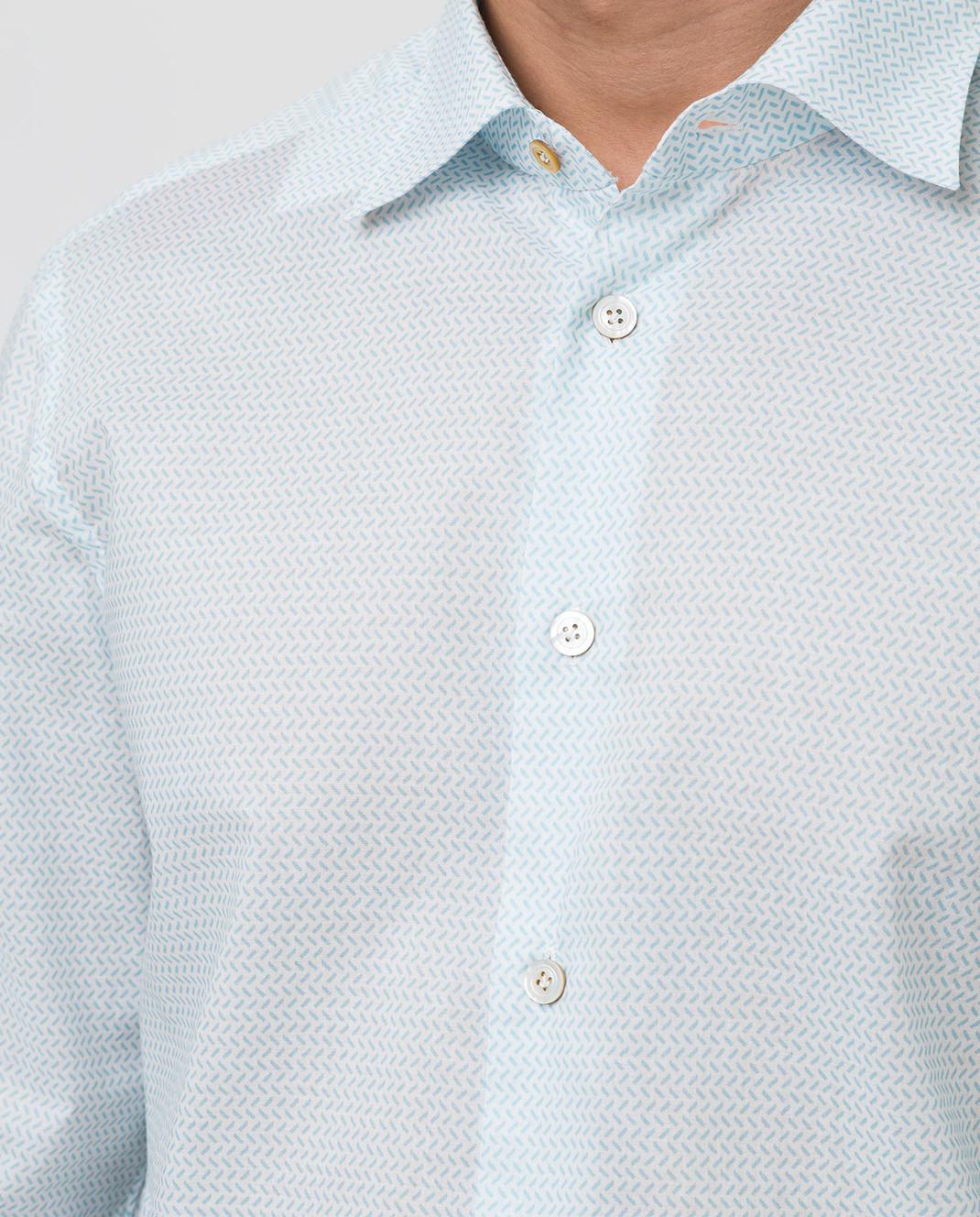 Kiton Белая рубашка изображение 5