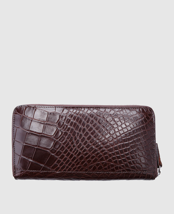 Темно-коричневый кожаный кошелек hover