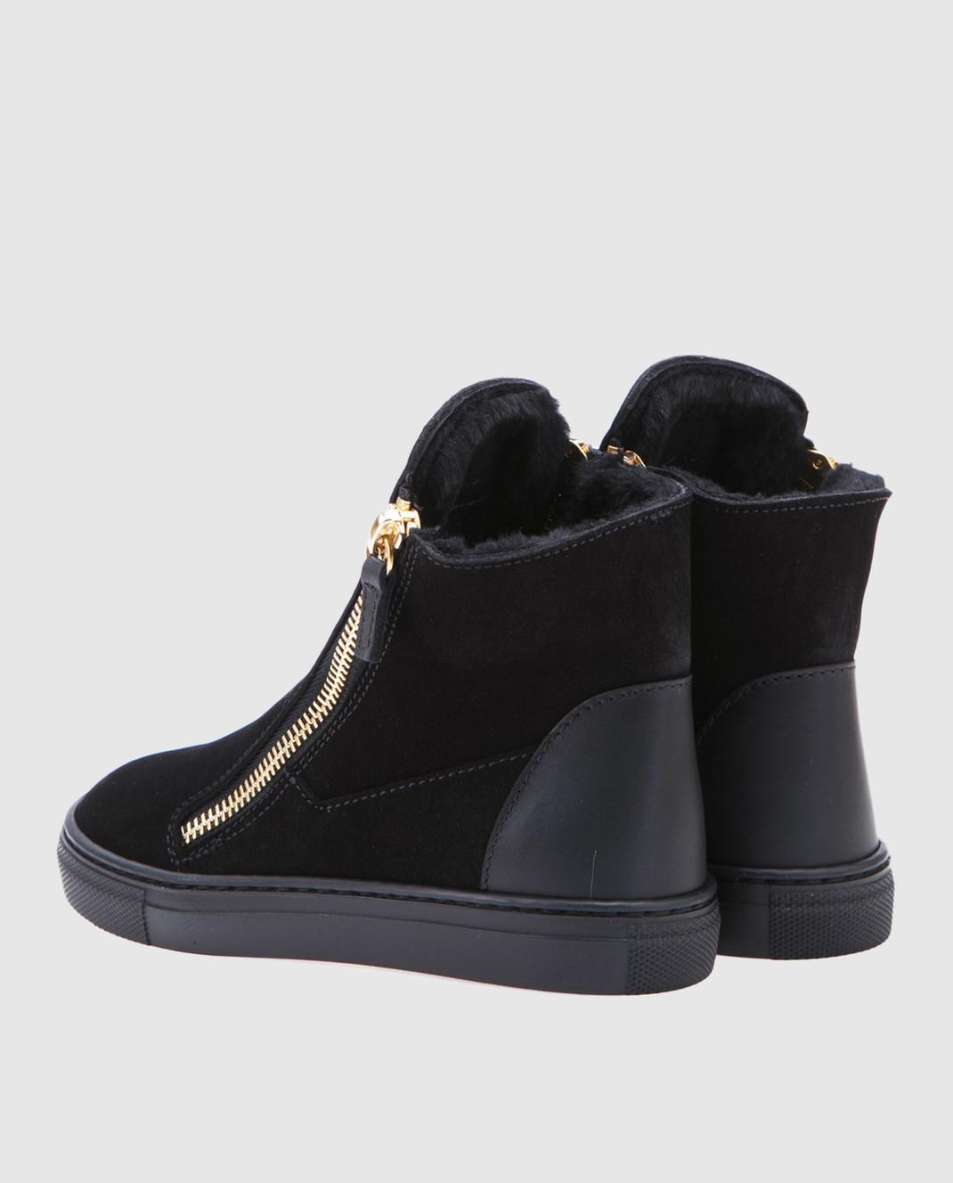 Giuseppe Zanotti Черные замшевые ботинки SBI7402002 изображение 3