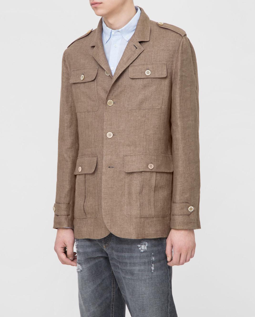 Brunello Cucinelli Коричневая куртка MD4176849 изображение 3