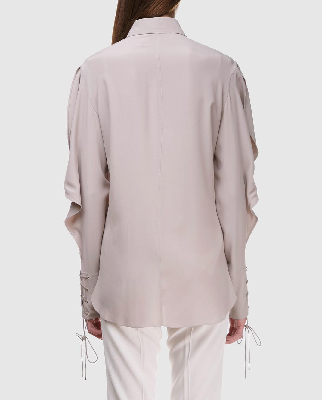 NINA RICCI Серая блуза 18PCTO002AC0109 изображение 4