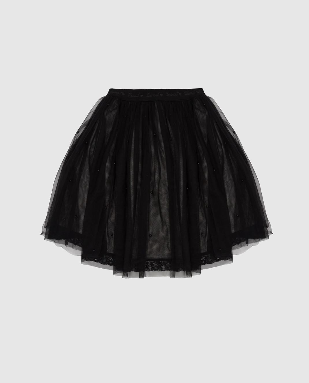 Twin Set Детская черная юбка GA82JE1214 изображение 2