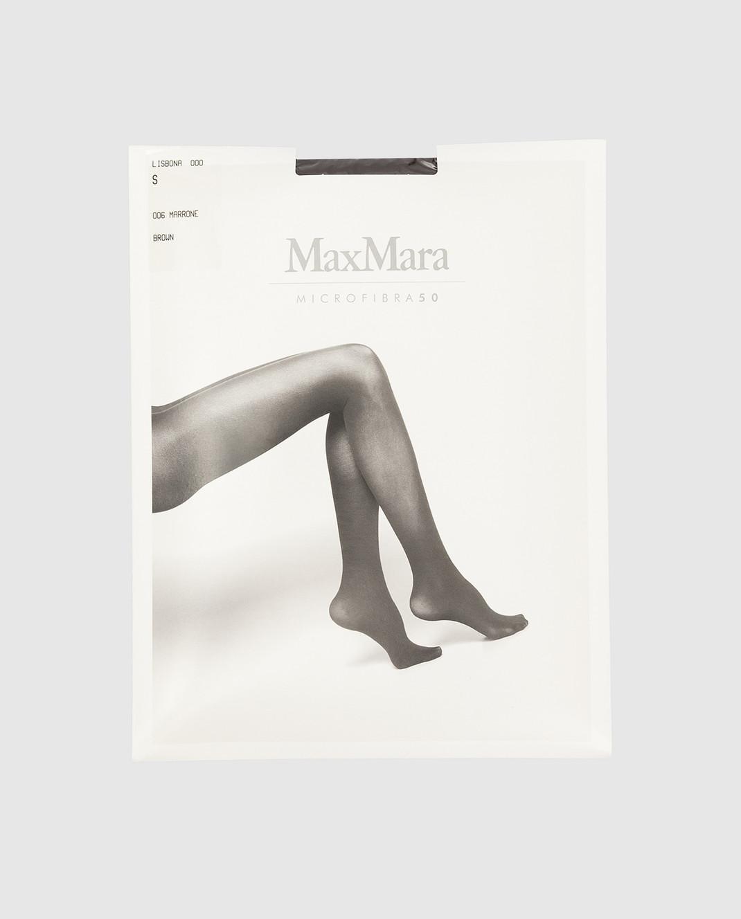 Max Mara Темно-коричневые колготы 50 ден изображение 1