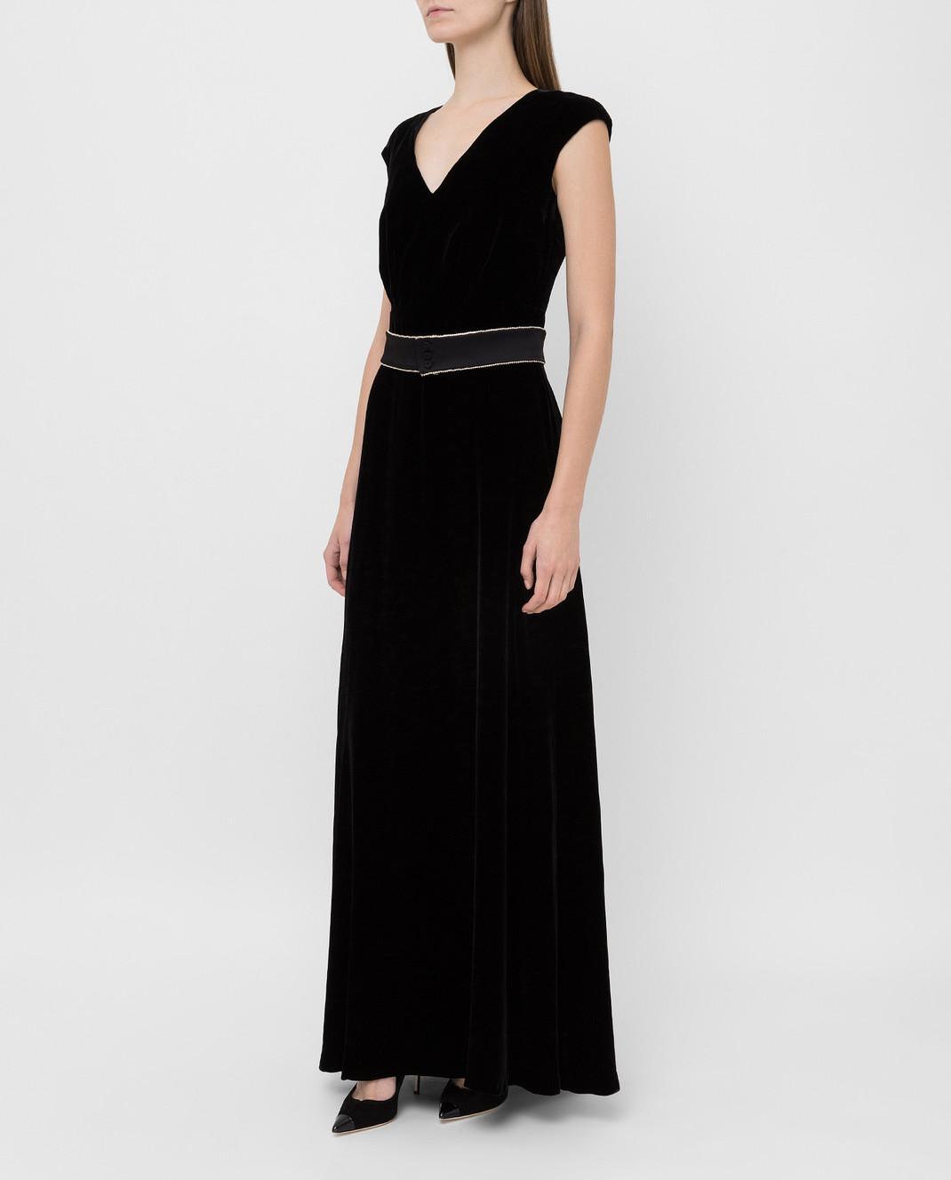 Max Mara Черное бархатное платье ASTRALE изображение 3
