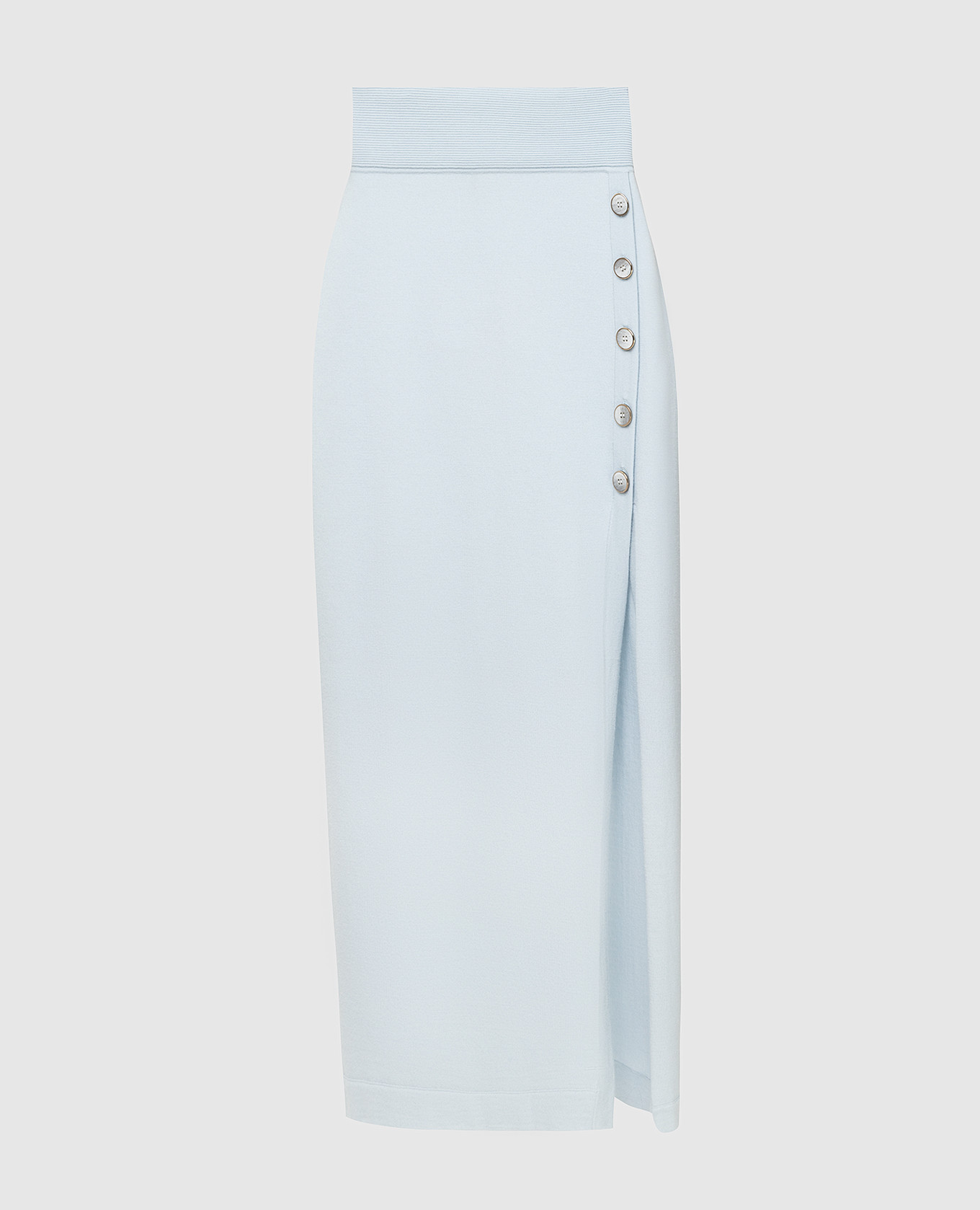 Голубая юбка из шерсти