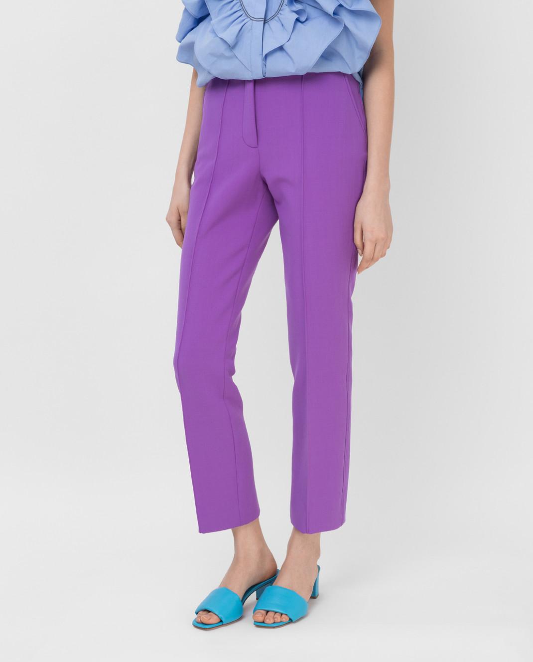 Victoria by Victoria Beckham Фиолетовые брюки TRVV101 изображение 3