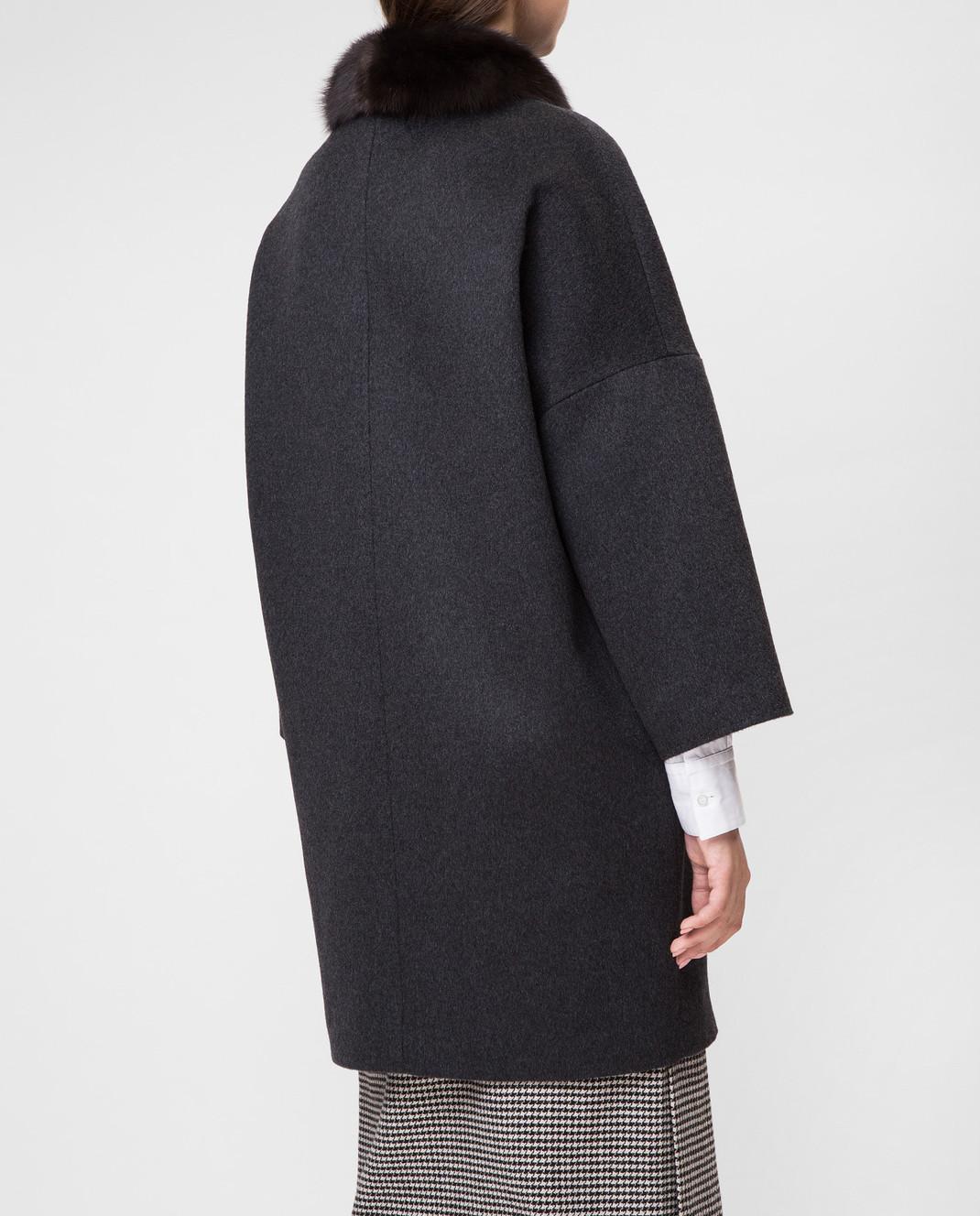 Real Furs House Темно-серое пальто CSR7177 изображение 4