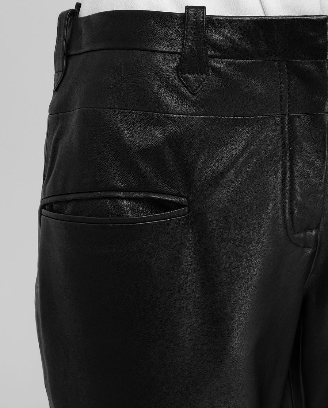 Altuzarra Черные кожаные брюки 318612796 изображение 5