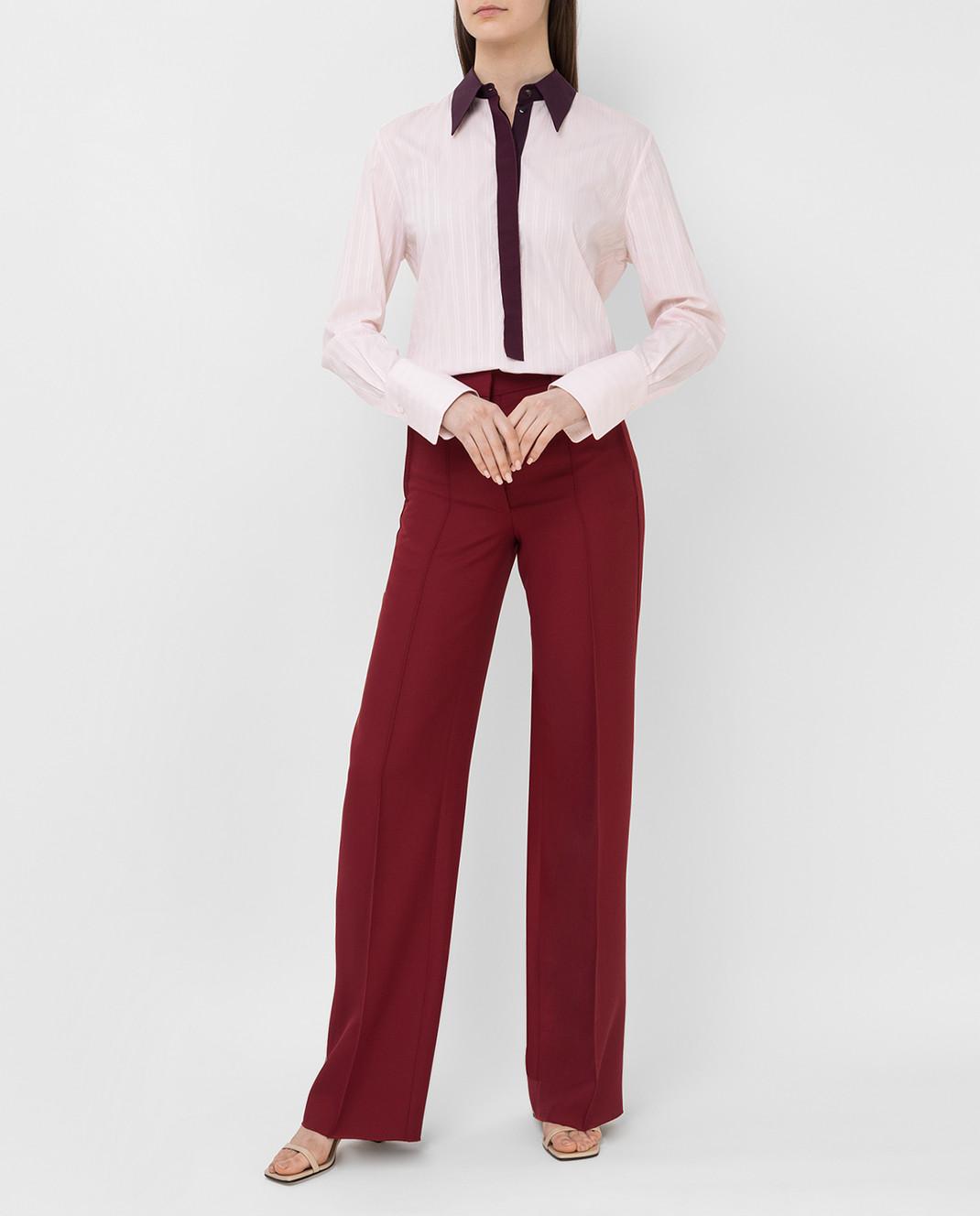 Victoria by Victoria Beckham Розовая рубашка SHVV117 изображение 2