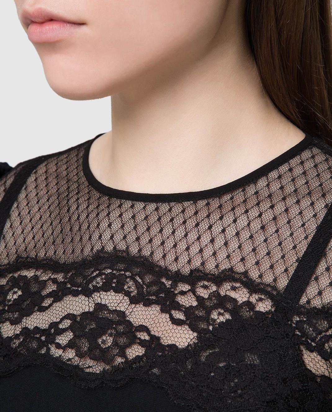 Dolce&Gabbana Черное платье F6C2STFURDV изображение 5