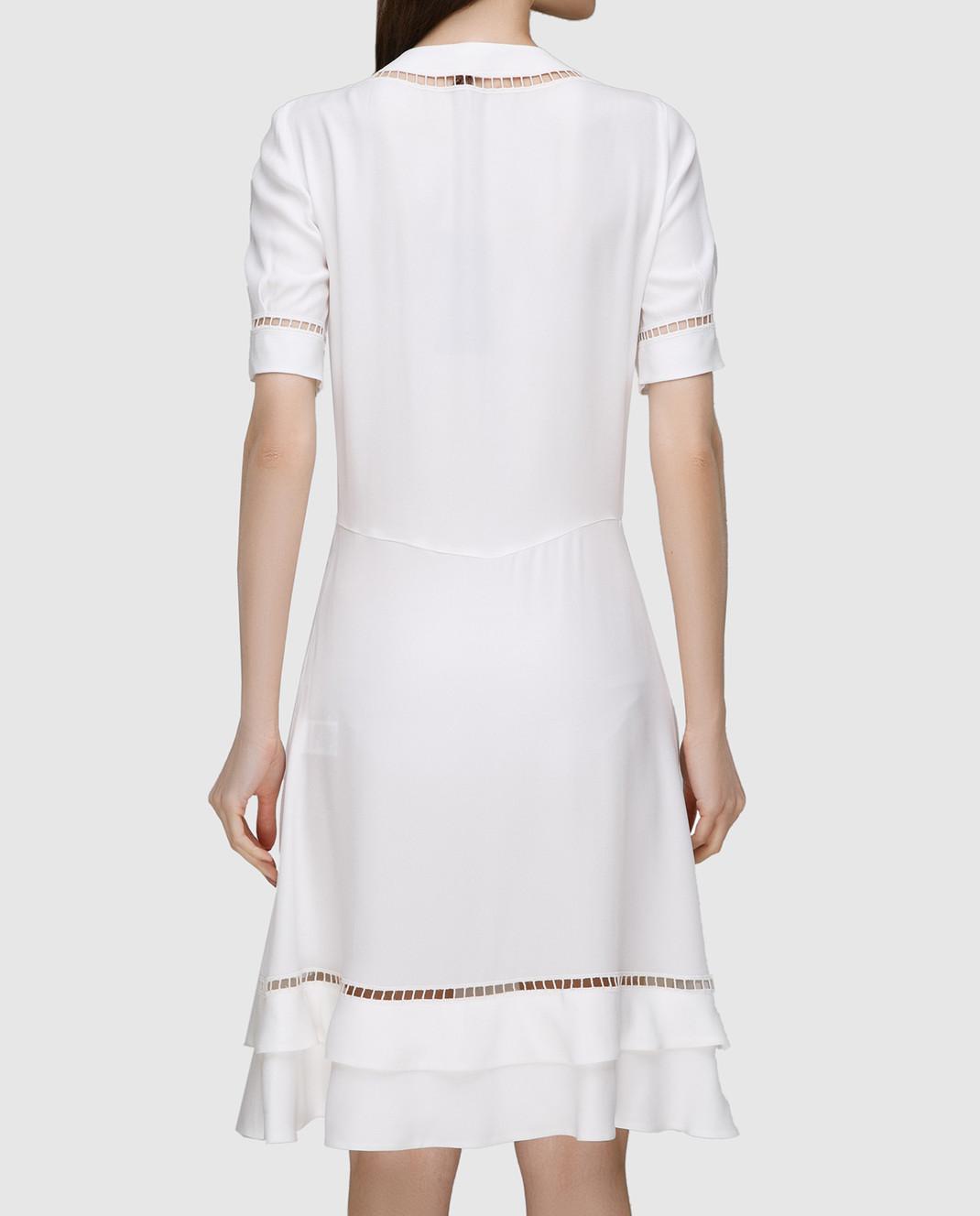 Ermanno Scervino Белое платье с кружевом D302Q320RVJ изображение 4