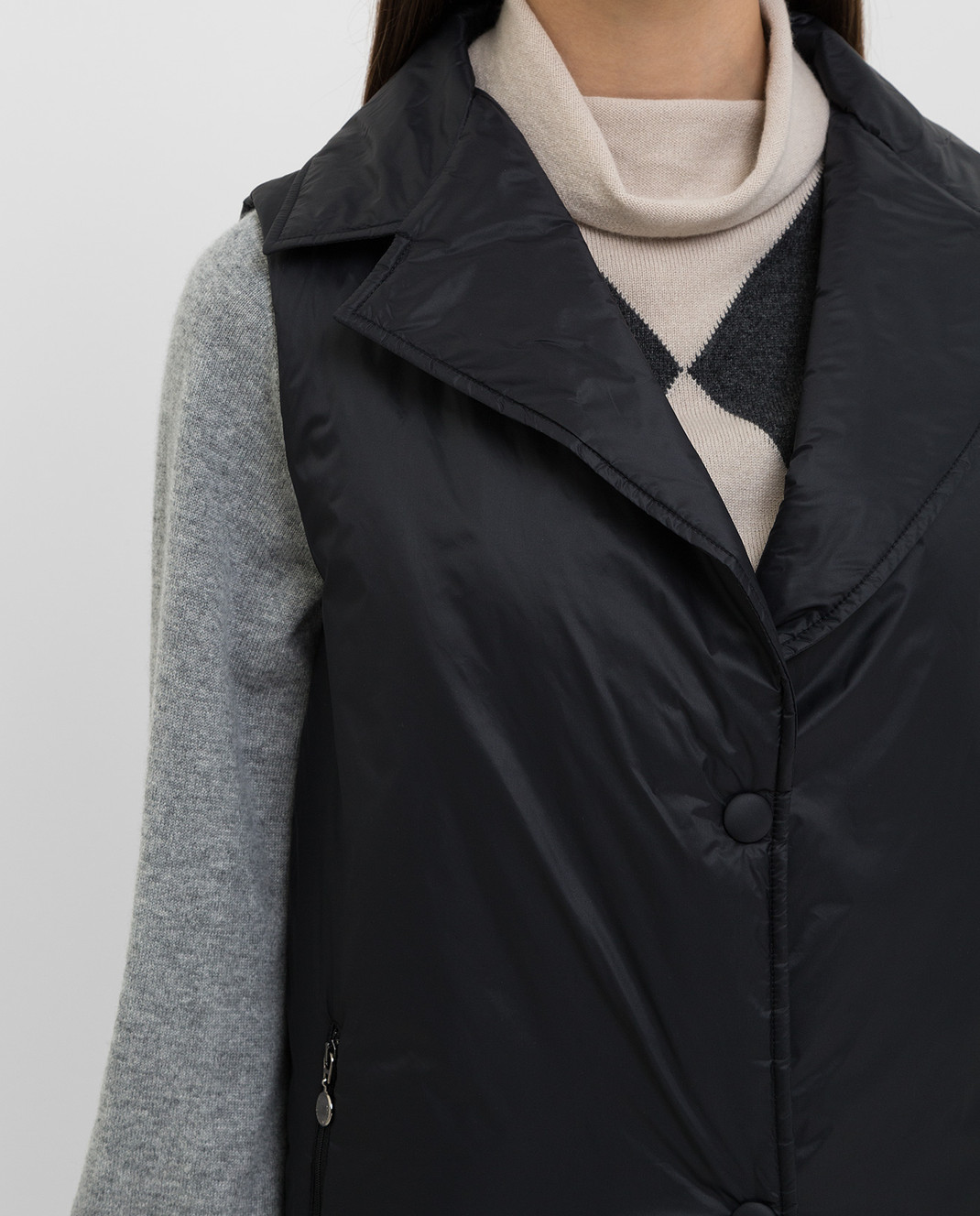 Fabiana Filippi Серое пальто изображение 5
