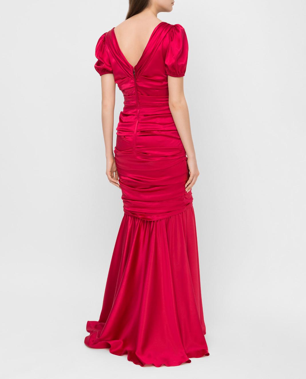 Dolce&Gabbana Красное платье из шелка F62B2TFURAG изображение 4