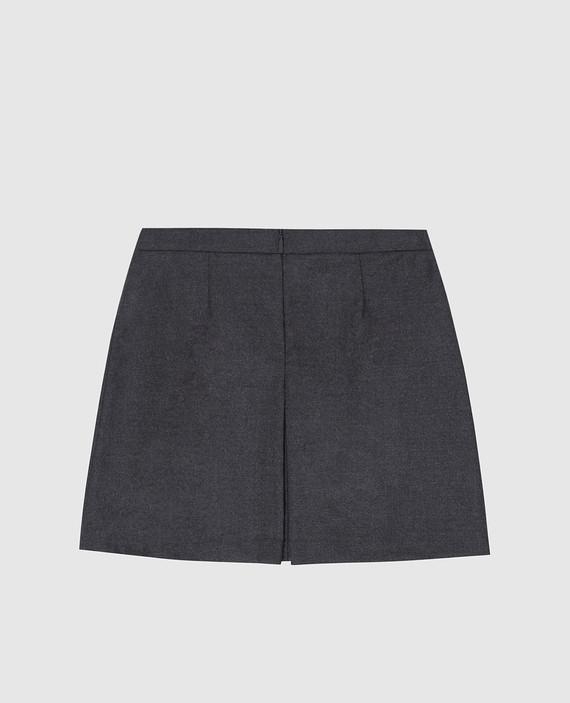 Детская серая юбка из шерсти hover