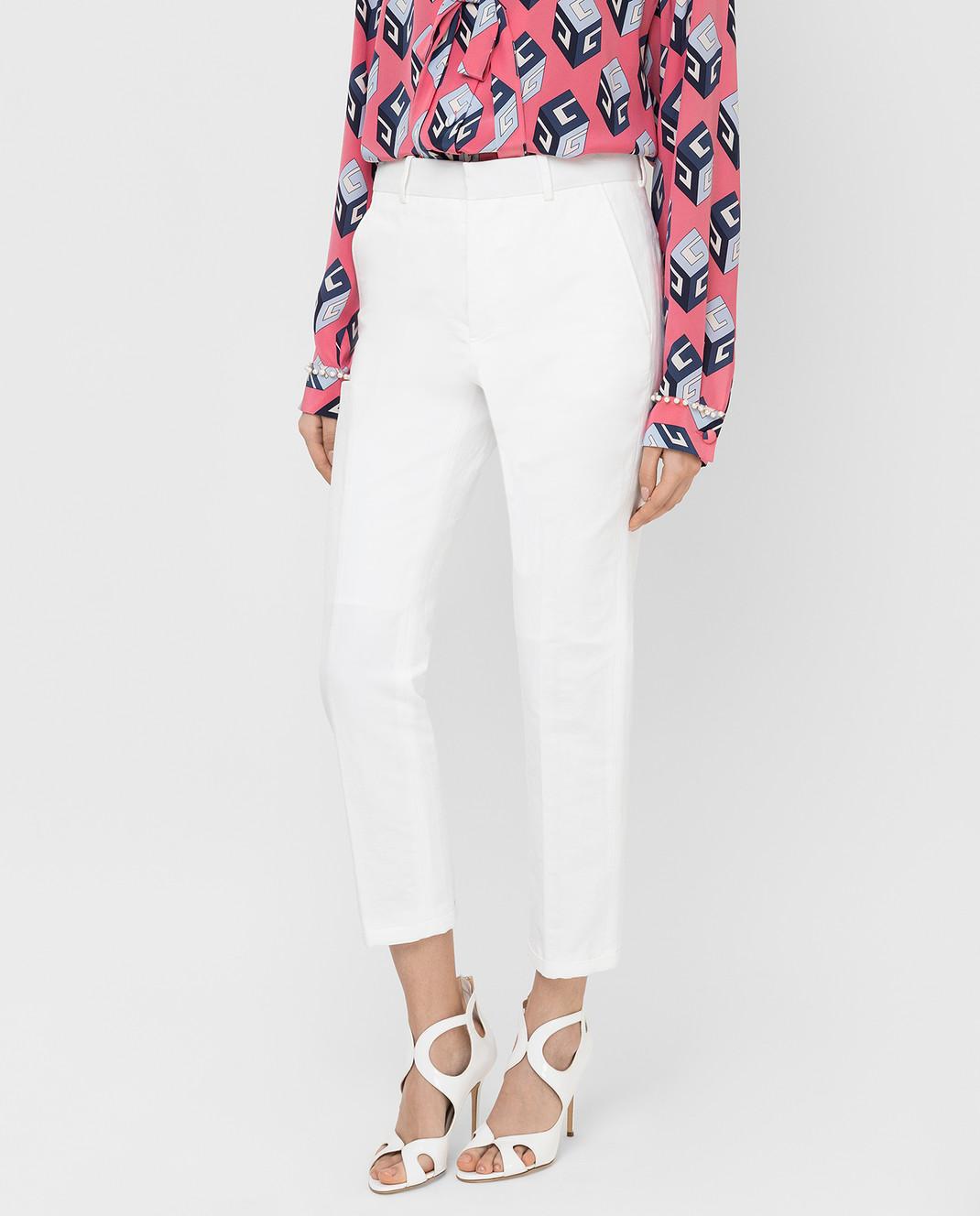 Marni Белые брюки PAMAR09MU1TL234 изображение 3