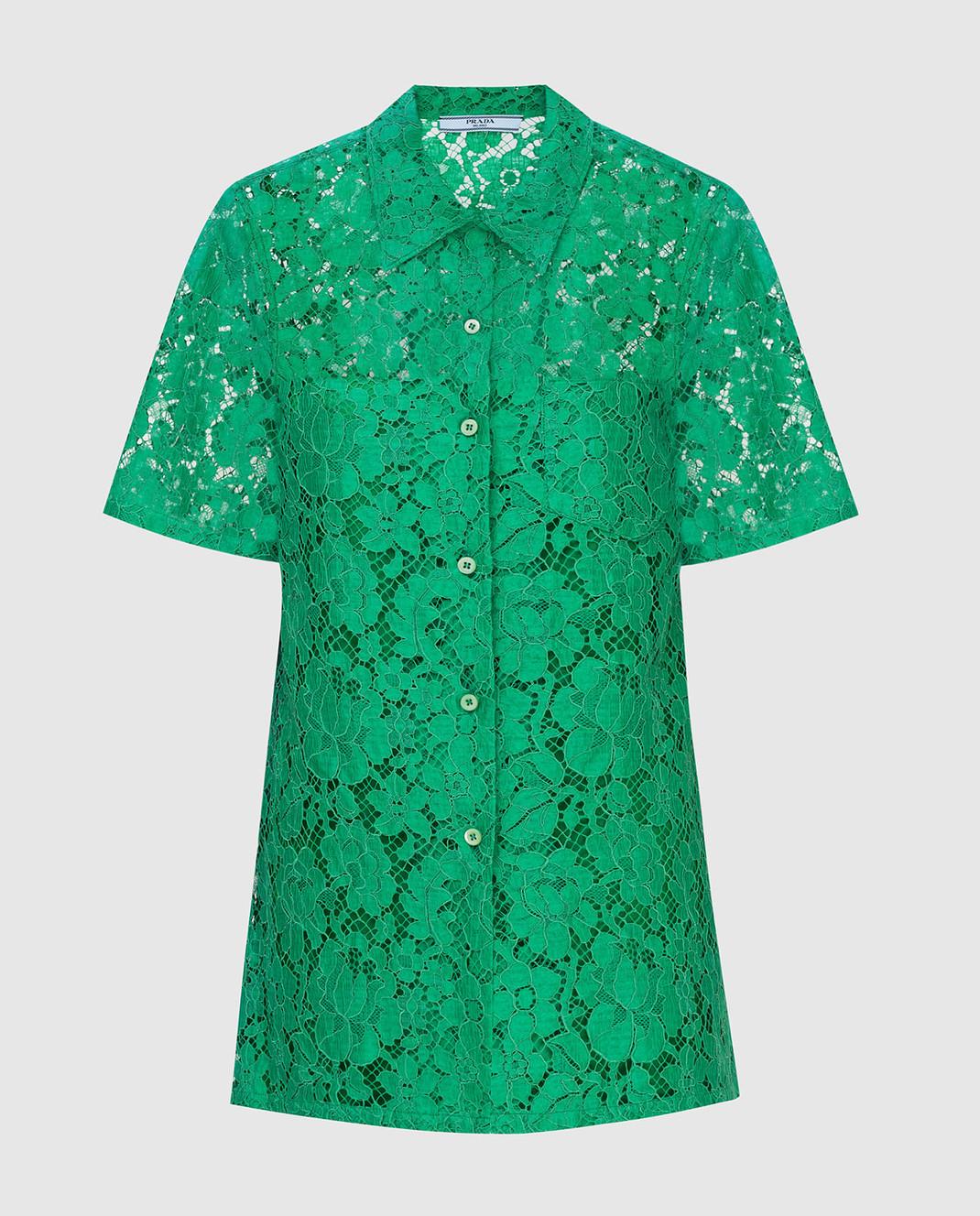 Prada Зеленая рубашка изображение 1