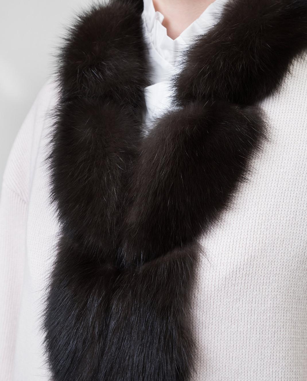 Real Furs House Светло-бежевое пальто CSR01 изображение 5