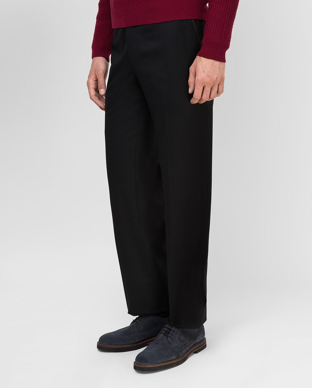Castello d'Oro Черные брюки из шерсти изображение 3