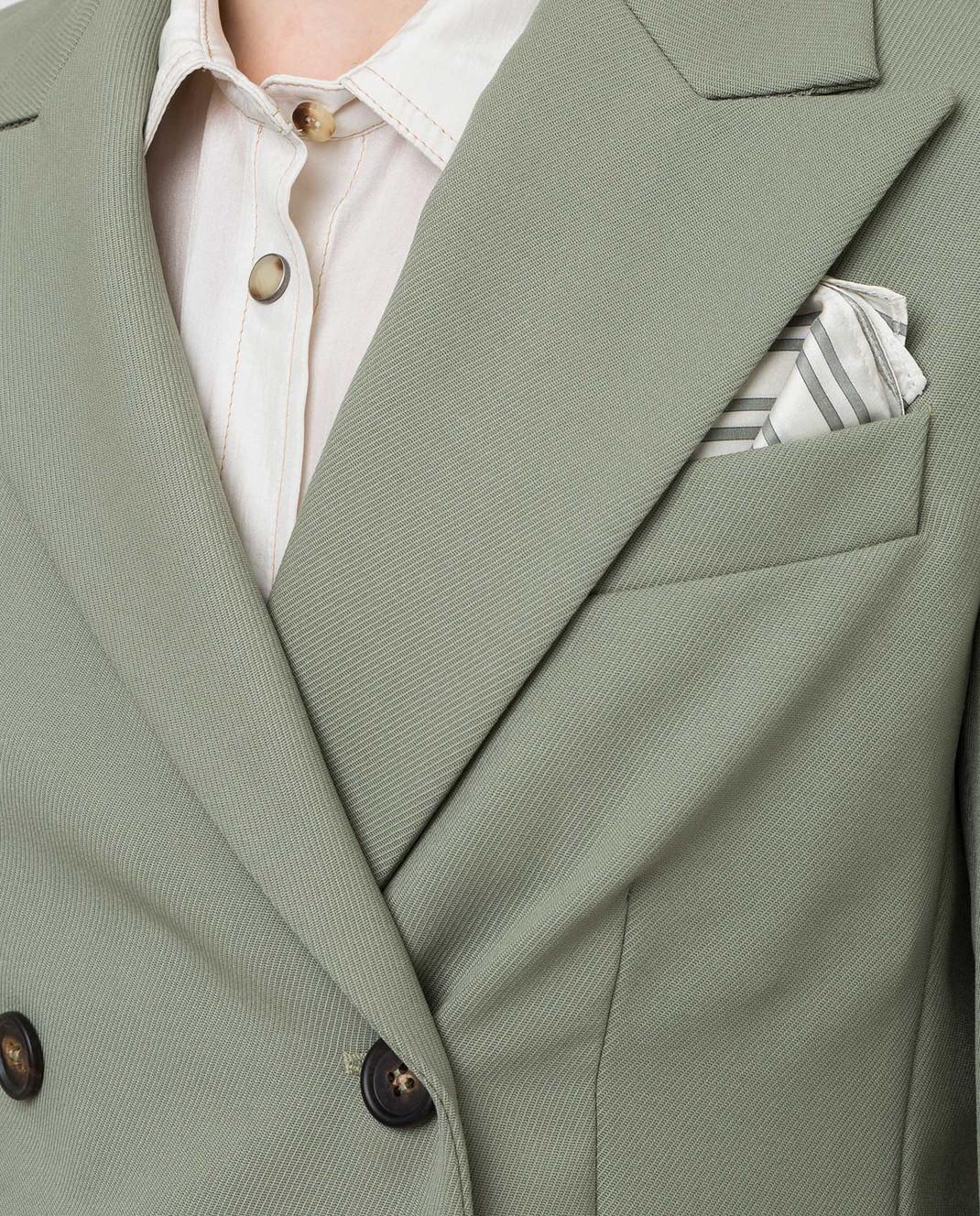 Brunello Cucinelli Зеленый костюм из шерсти изображение 5