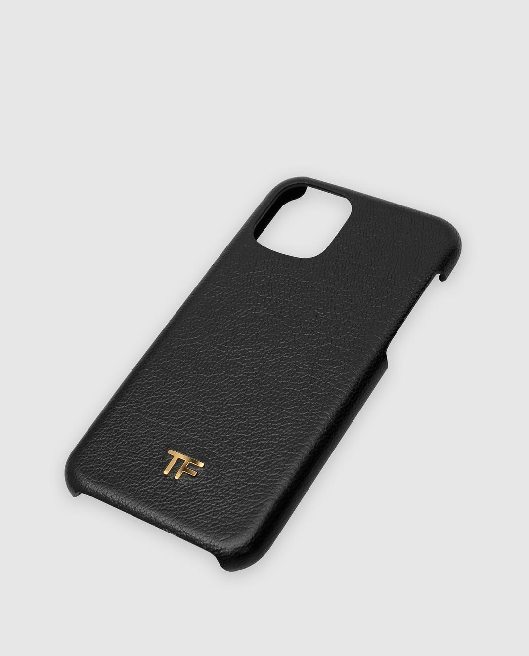 Tom Ford Черный кожаный чехол для iPhone 11 Pro изображение 3