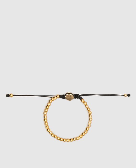 Золотистый браслет из латуни