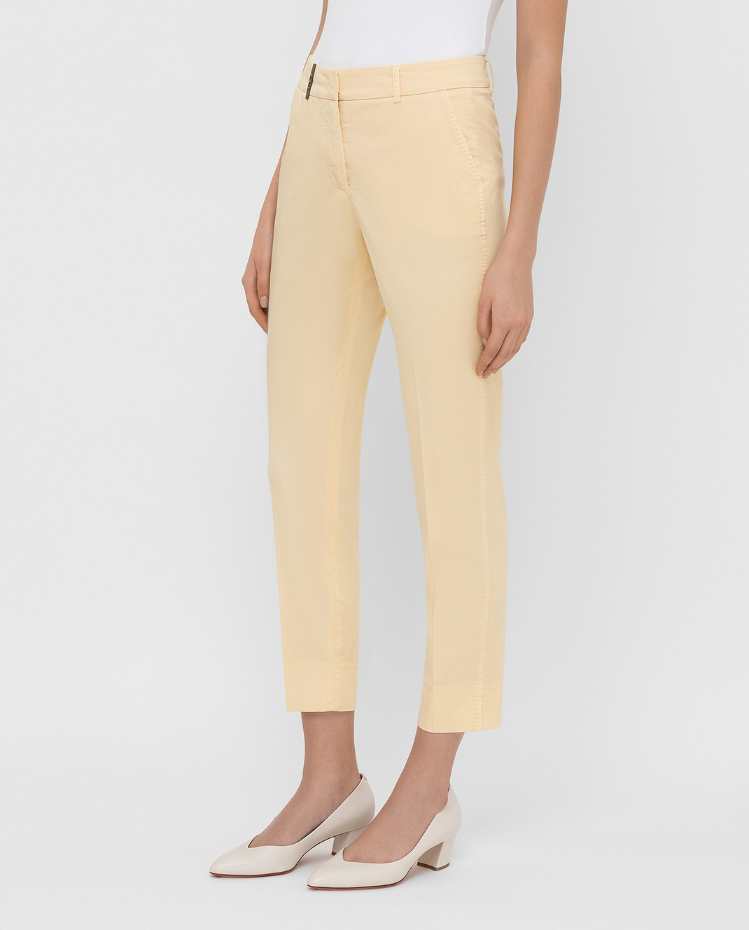 Peserico Светло-желтые брюки P04718T402477 изображение 3