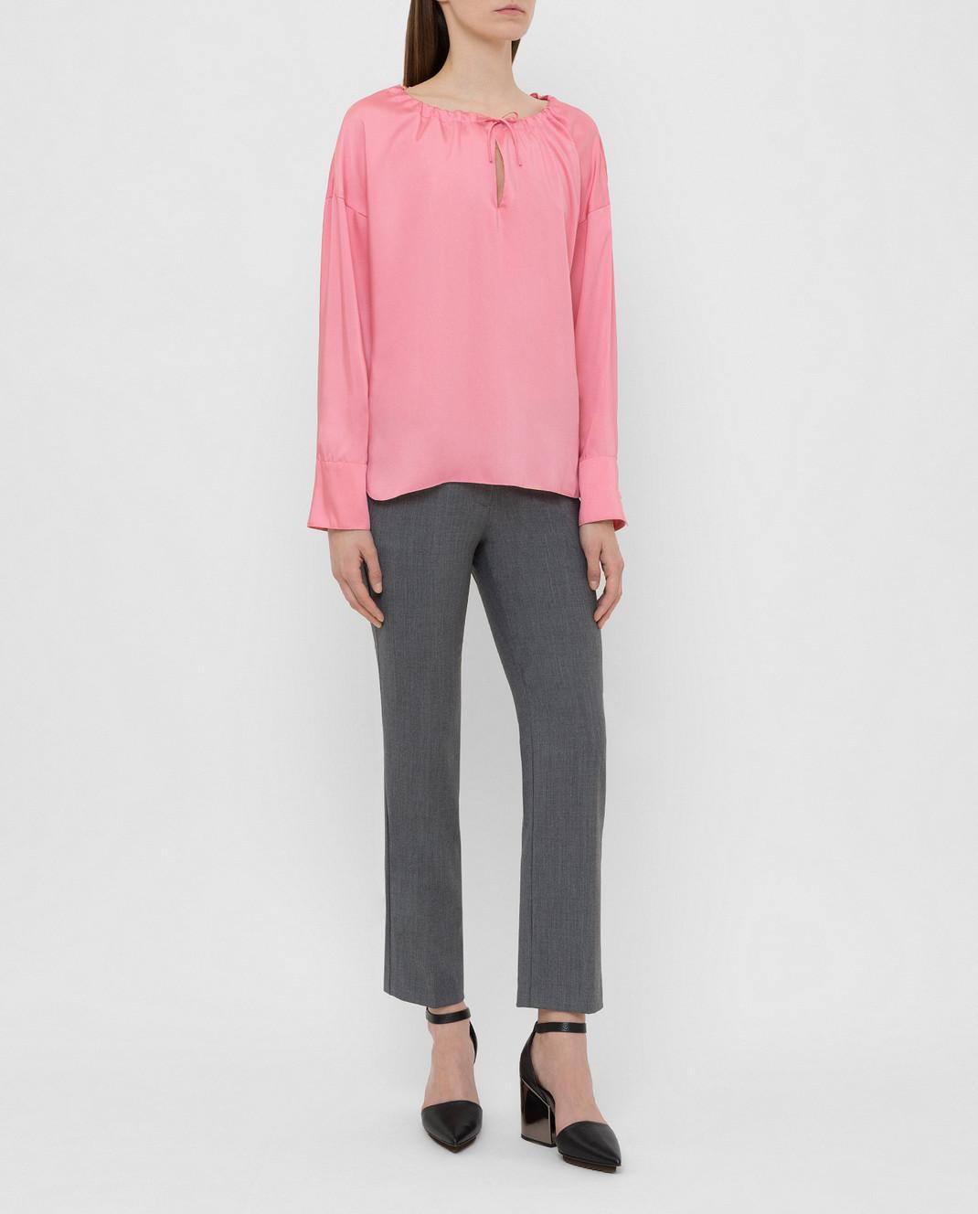 Yves Salomon Розовая блуза 9EYH00563TWUW изображение 2