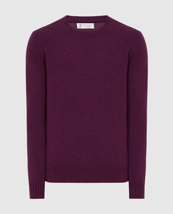 Фиолетовый свитер из кашемира