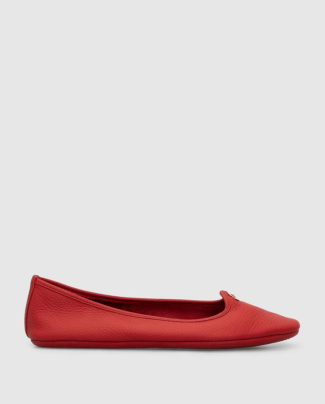 Loro Piana Красные кожаные балетки F3FAF8837