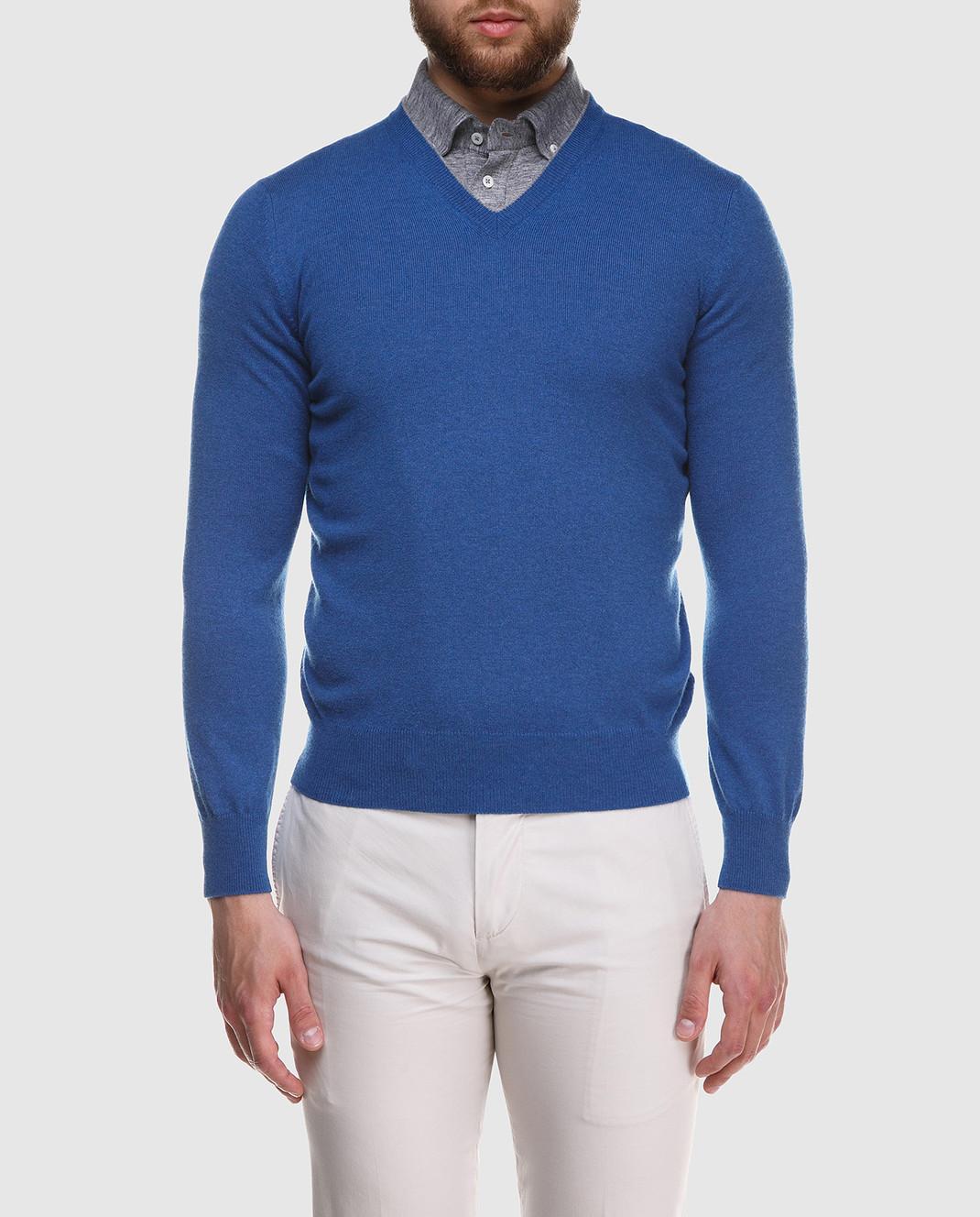 Brunello Cucinelli Синий пуловер M2200162 изображение 3