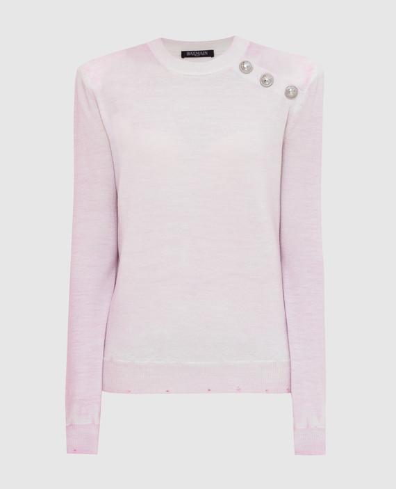 Светло-розовый свитер из шерсти