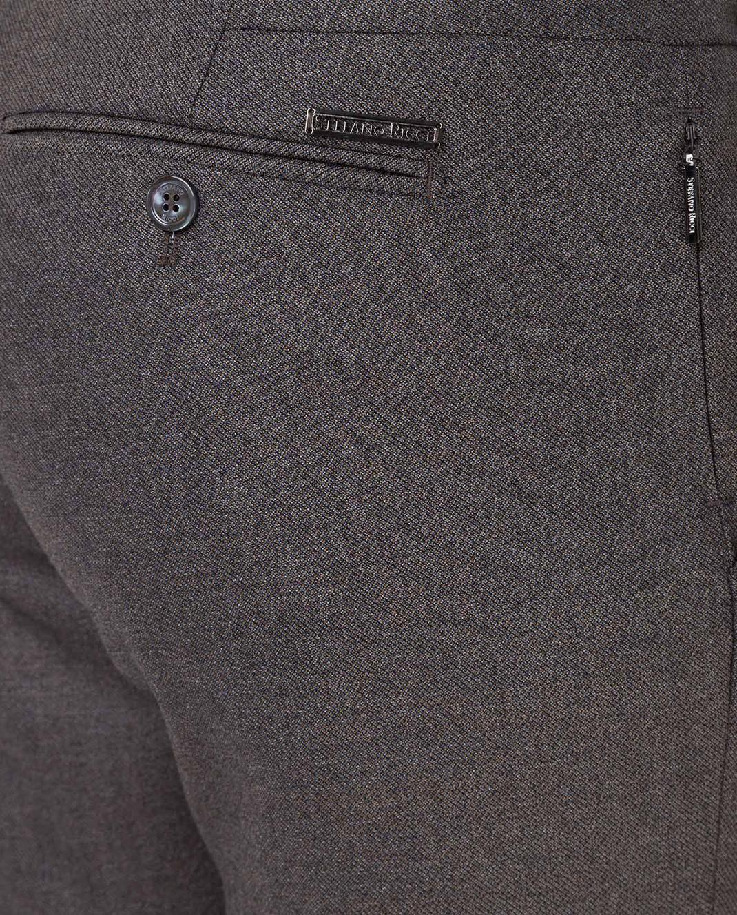 Stefano Ricci Темно-бежевые брюки из шерсти изображение 5