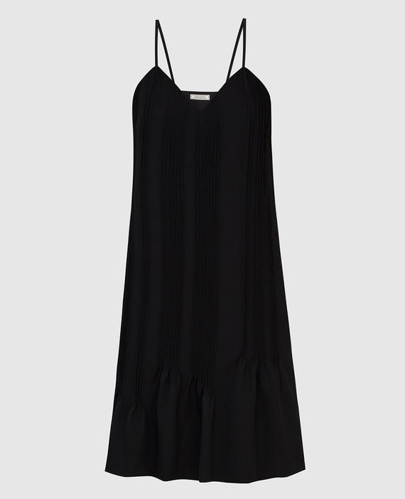 Черное платье из шерсти