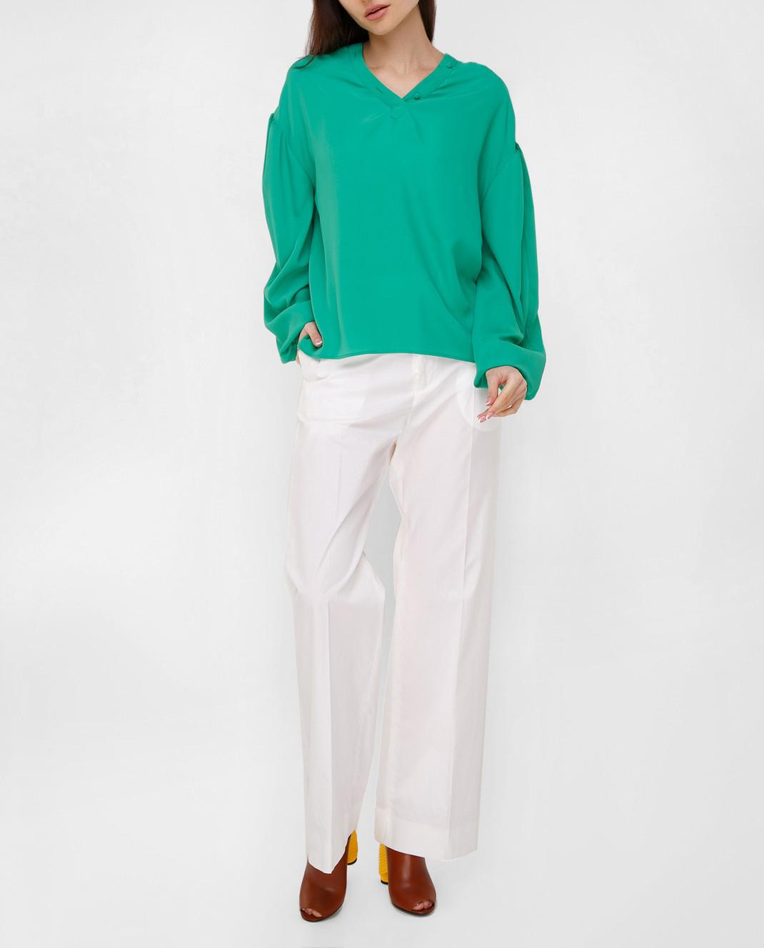Balenciaga Зеленая блуза 456948TID36 изображение 2