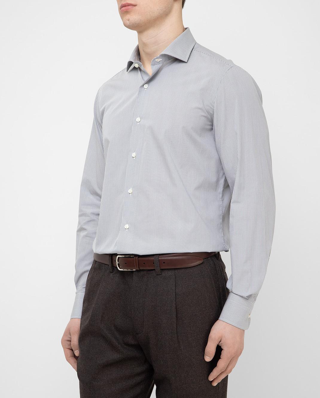 Luciano Lombardi Серая рубашка 990631 изображение 3
