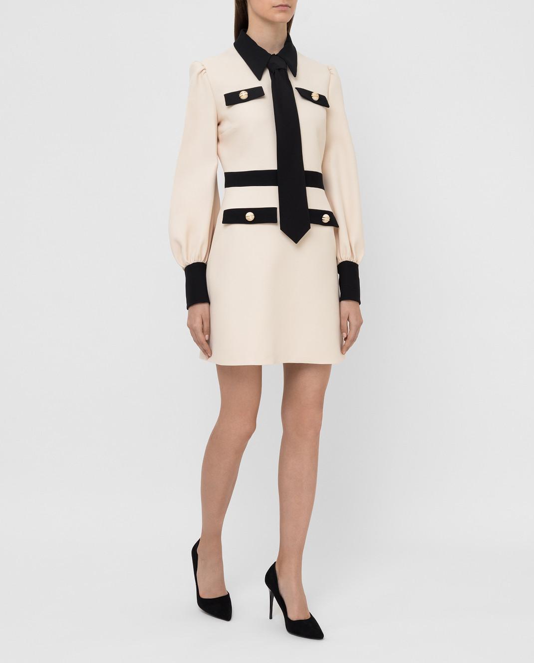 Gucci Светло-бежевое платье 595257 изображение 2
