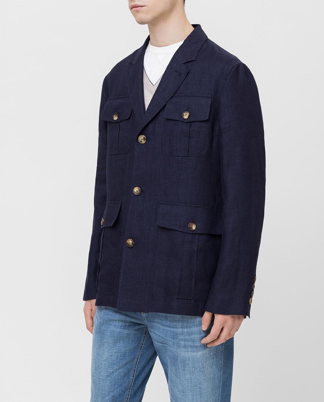 Brunello Cucinelli Синяя куртка MD4176848 изображение 3