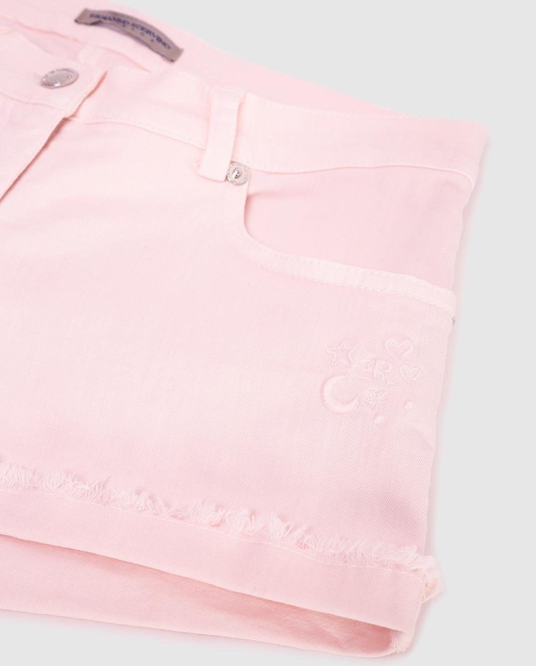 Ermanno Scervino Детские розовые шорты PC061014 изображение 3
