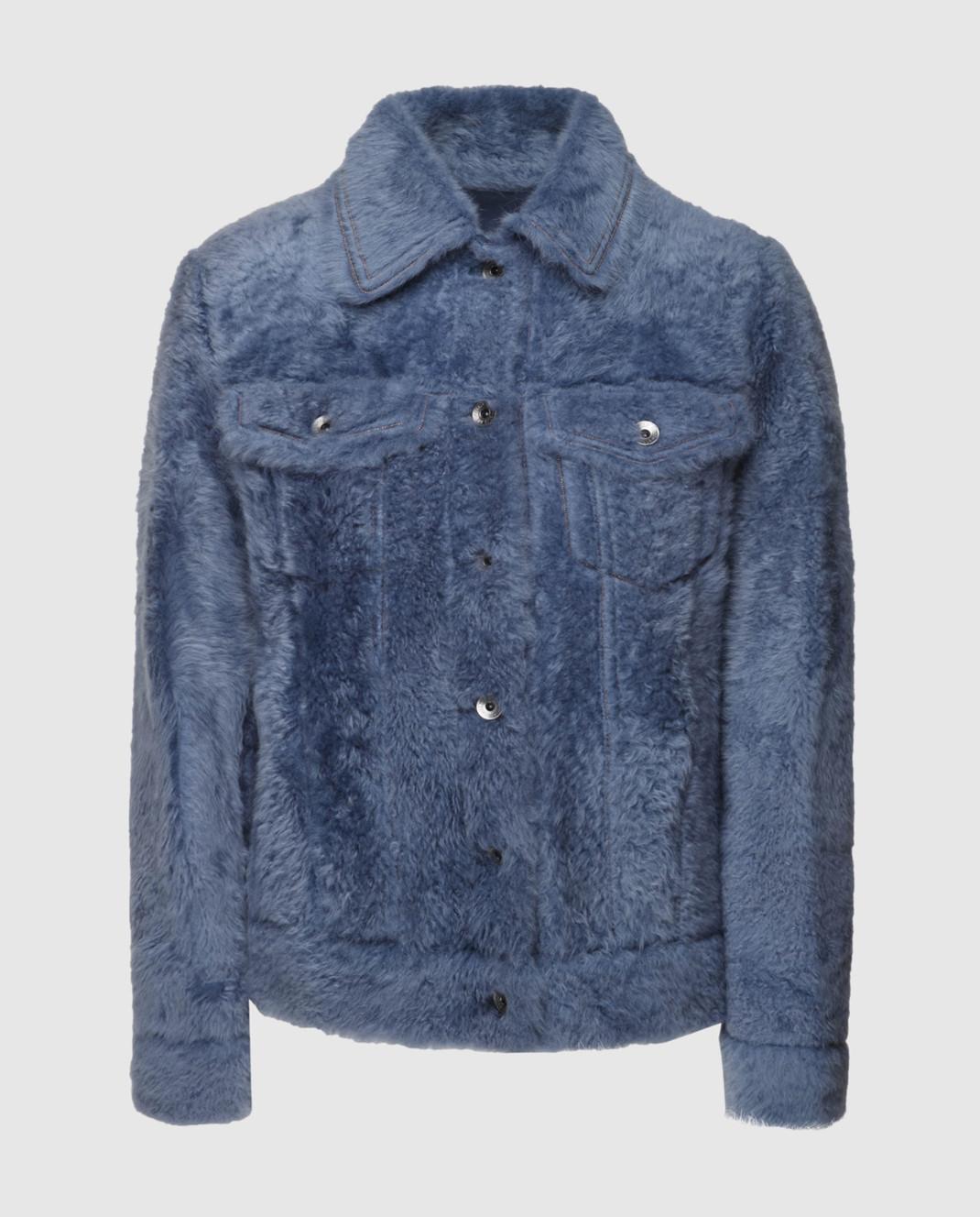 Brunello Cucinelli Синяя куртка MPMTE8527P