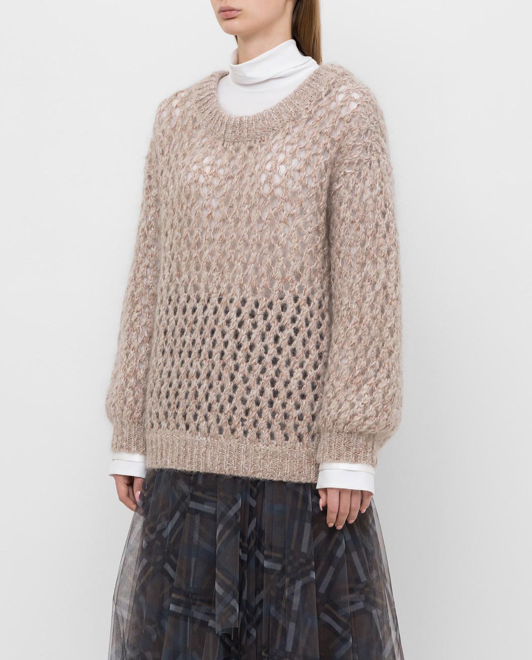 Brunello Cucinelli Бежевый свитер M9F386208 изображение 3